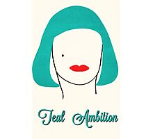Teal Ambition  Photographic Print