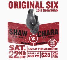 Blackhawks Shaw VS. Chara retro boxing flyer shirt. One Piece - Long Sleeve