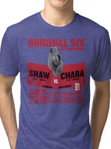 Blackhawks Shaw VS. Chara retro boxing flyer shirt. Tri-blend T-Shirt