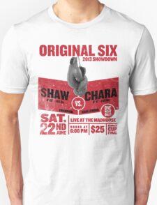 Blackhawks Shaw VS. Chara retro boxing flyer shirt. Unisex T-Shirt