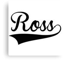 Baseball Style Ross Canvas Print