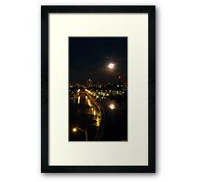 Moonlight on Mill City v.1 Framed Print