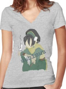 'Tough' Times Women's Fitted V-Neck T-Shirt