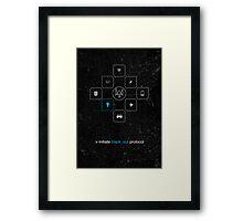 Black_out Protocol Framed Print