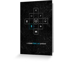 Black_out Protocol Greeting Card