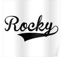 Baseball Style Rocky Poster