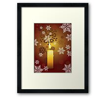 Candle and Snowflakes 3 Framed Print