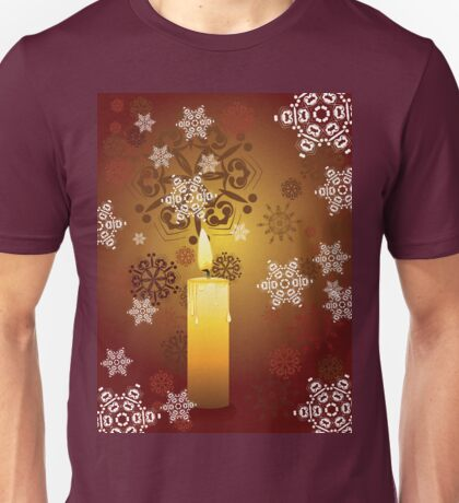 Candle and Snowflakes 3 Unisex T-Shirt