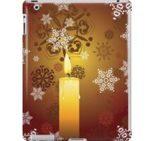 Candle and Snowflakes 3 iPad Case/Skin