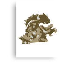 Minimalist Bowser from Super Smash Bros. Brawl Canvas Print
