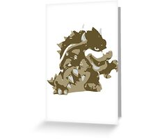 Minimalist Bowser from Super Smash Bros. Brawl Greeting Card