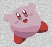 Minimalist Kirby from Super Smash Bros. Brawl One Piece - Long Sleeve