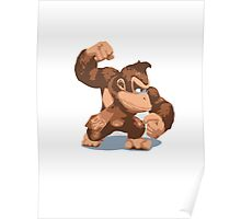 Minimalist Donkey Kong from Super Smash Bros. Brawl Poster