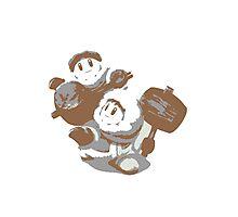 Minimalist Ice Climbers from Super Smash Bros. Brawl Photographic Print
