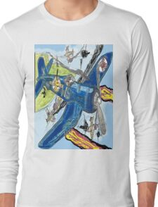 Corsair Snoopy the All Time Flying Ace Long Sleeve T-Shirt