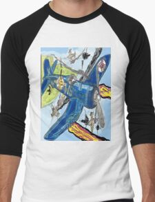 Corsair Snoopy the All Time Flying Ace Men's Baseball ¾ T-Shirt