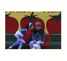 True Love and Strawberries Art Print