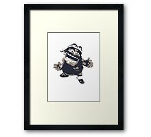 Minimalist Wario from Super Smash Bros. Brawl Framed Print