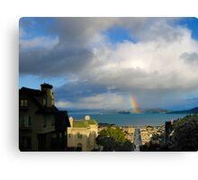 Rainbow on the Bay Canvas Print