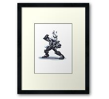 Minimalist Wolf from Super Smash Bros. Brawl Framed Print
