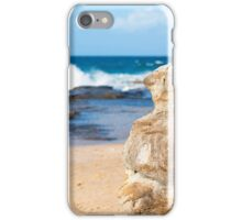 Rocks and waves at Point Cartwright  iPhone Case/Skin