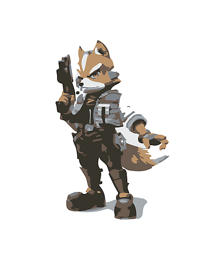Minimalist Fox from Super Smash Bros. Brawl by Himehimine