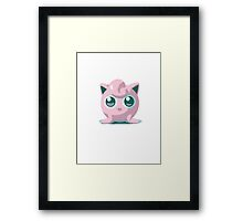 Minimalist Jigglypuff from Super Smash Bros. Brawl Framed Print