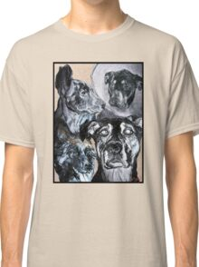 Sketched Dogs Collage Classic T-Shirt