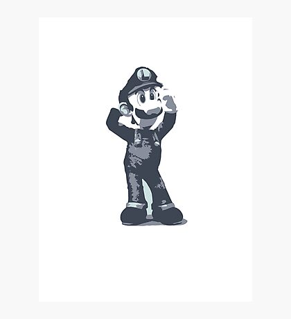 Minimalist Luigi from Super Smash Bros. Brawl Photographic Print