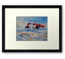 Panda Superhero Framed Print