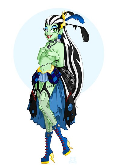 Mistress of Monster High- Frankie Stein by LillyKitten