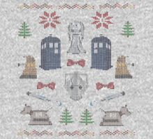 Ugly Doctor/Villain Christmas Sweater One Piece - Short Sleeve