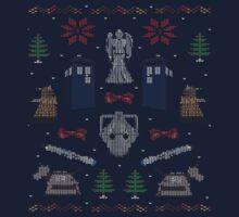 Ugly Doctor/Villain Christmas Sweater Baby Tee