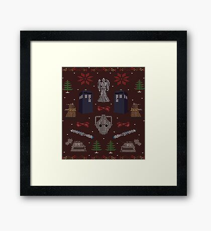 Ugly Doctor/Villain Christmas Sweater Framed Print