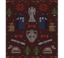 Ugly Doctor/Villain Christmas Sweater Photographic Print
