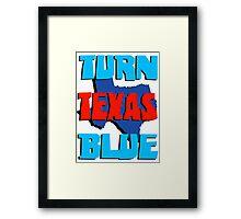 Turn Texas Blue Framed Print