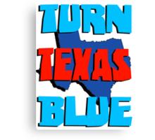 Turn Texas Blue Canvas Print