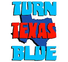 Turn Texas Blue Photographic Print