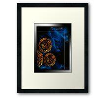 ©DA Gold Circles Of Fractal II /T2 Framed Print