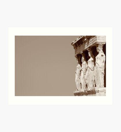 columnas-Architecture Art Print