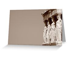 columnas-Architecture Greeting Card