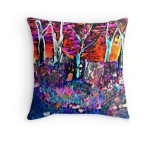 AnOther OReilly ORiginal Painting,50 Shades of a wild fire  Throw Pillow