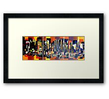 Manhattan NewYork Abstract Painting Framed Print