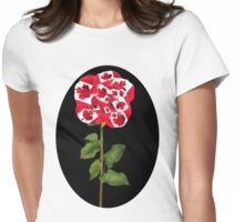 ✿♥‿♥✿CANADIAN PATRIOTIC ROSE TEE SHIRT✿♥‿♥✿ Womens Fitted T-Shirt