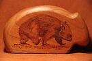 Pyrography: Walking Wombat by aussiebushstick