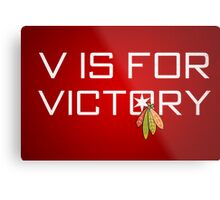V is for Victory Metal Print