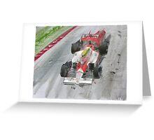 Ayton Senna Greeting Card