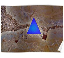 Blue Triangle and Gravel Poster