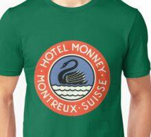 Vintage Hotel Monney Suisse Unisex T-Shirt