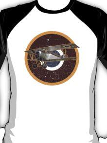 Vintage Look Nieuport fighter biplane on French Emblem T-Shirt